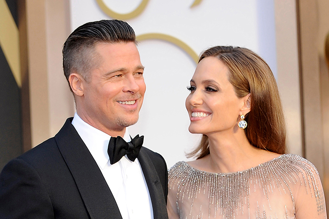 *FILE PHOTOS* Los Angeles, CA - Angelina Jolie files for divorce from Brad Pitt citing irreconcilable differences. The married couple has been together for more than 10 years. Here they are pictured for the 2014 Oscars at the Hollywood and Highland Center on March 2, 2014. AKM-GSI September 20, 2016 To License These Photos, Please Contact : Maria Buda (917) 242-1505 mbuda@akmgsi.com sales@akmgsi.com or Mark Satter (317) 691-9592 msatter@akmgsi.com sales@akmgsi.com www.akmgsi.com