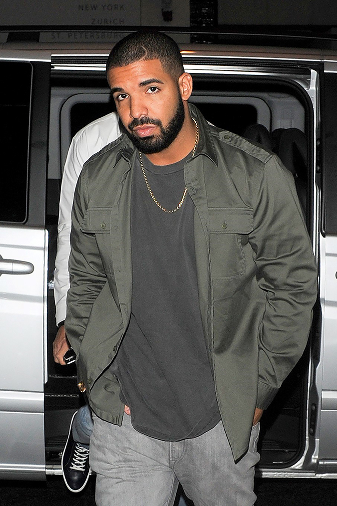 ** RESTRICTIONS: ONLY UNITED STATES ** London, UK - **USA ONLY** London, UK - Part 2 - Drake and British footballer, Ashley Cole leave Novikov Restaurant on a guys night out in London. 06/25/2015 Copyright © 2014 AKM-GSI, Inc. To License These Photos, Please Contact : Maria Buda (917) 242-1505 mbuda@akmgsi.com or Steve Ginsburg (310) 505-8447 (323) 423-9397 steve@akmgsi.com sales@akmgsi.com