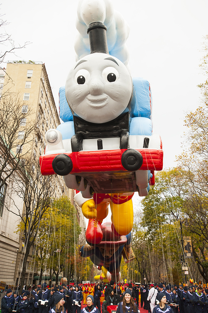 20161124©DayMacyPrde6344.jpg The 90th Macy's Thanksgiving Day Parade kicked off under cloudy skies and cool temperatures as hundreds of thousands line the parade route to celebrate the clowns, floats, and balloons fly by, starting the holiday season in New York City.