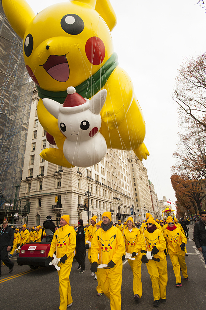 20161124©DayMacyPrde67362.jpg The 90th Macy's Thanksgiving Day Parade kicked off under cloudy skies and cool temperatures as hundreds of thousands line the parade route to celebrate the clowns, floats, and balloons fly by, starting the holiday season in New York City.