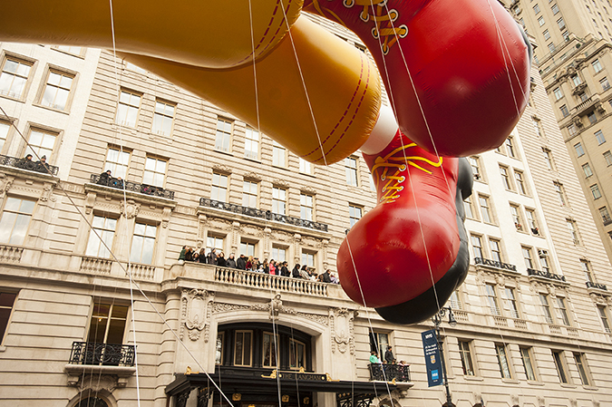 20161124©DayMacyPrde6990.jpg The 90th Macy's Thanksgiving Day Parade kicked off under cloudy skies and cool temperatures as hundreds of thousands line the parade route to celebrate the clowns, floats, and balloons fly by, starting the holiday season in New York City.
