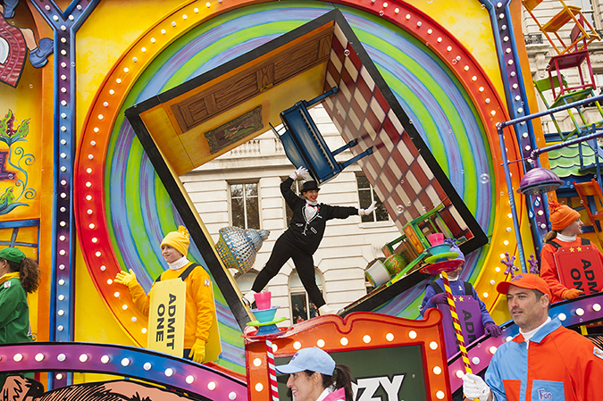 20161124©DayMacyPrde7491.jpg The 90th Macy's Thanksgiving Day Parade kicked off under cloudy skies and cool temperatures as hundreds of thousands line the parade route to celebrate the clowns, floats, and balloons fly by, starting the holiday season in New York City.