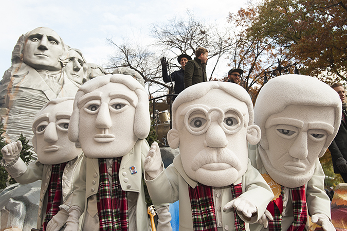 20161124©DayMacyPrde8506.jpg The 90th Macy's Thanksgiving Day Parade kicked off under cloudy skies and cool temperatures as hundreds of thousands line the parade route to celebrate the clowns, floats, and balloons fly by, starting the holiday season in New York City.