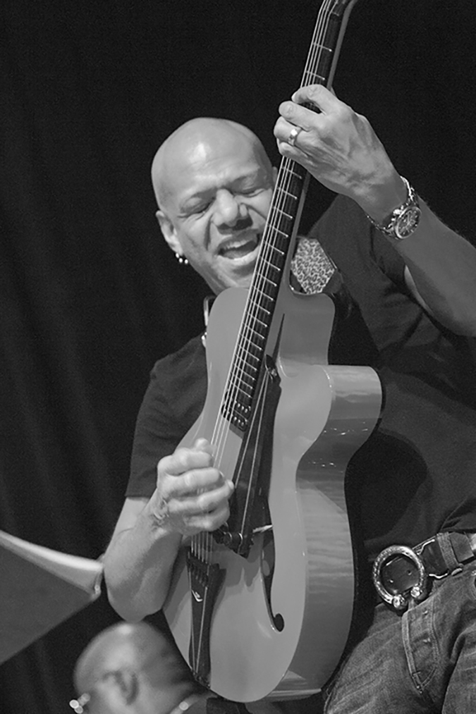 20170107©DayJazzFest2246.jpg The 13th Anual Winter JazzFest played over a snowy weekend from January 5th- January 10. Mark Whitfield/ Ralph Peterson & Aggregate Prime performing Saturday night at the New School Auditorium.