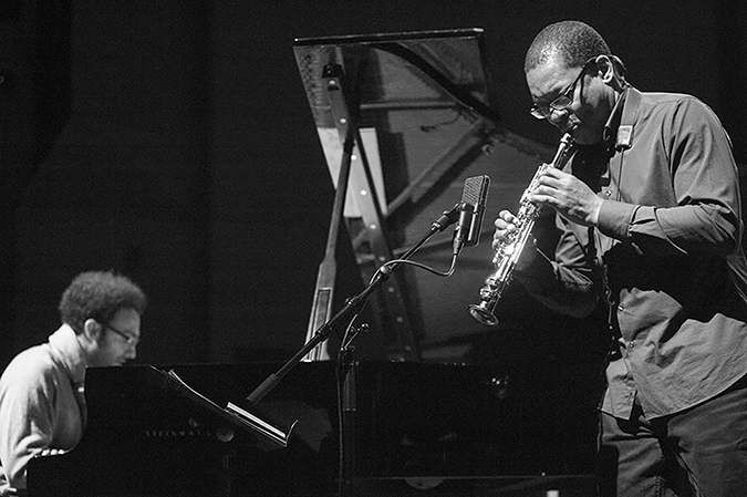 20170107©DayJazzFest2502.jpg The 13th Anual Winter JazzFest played over a snowy weekend from January 5th- January 10. Ravi Coltrane/ David Virelles Duo performing Saturday night at the New School Tishman Auditorium.