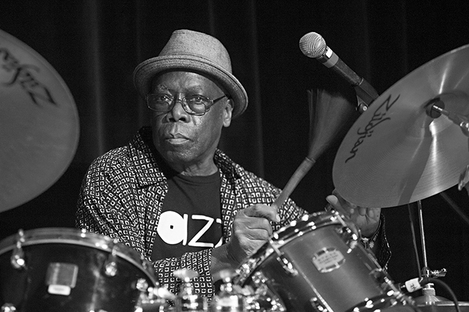 20170107©DayJazzFest2701.jpg The 13th Anual Winter JazzFest played over a snowy weekend from January 5th- January 10. Andrew Cyrille/ Andrew Cyrille & Haitian Fascination performing Saturday night at the New School Auditorium.