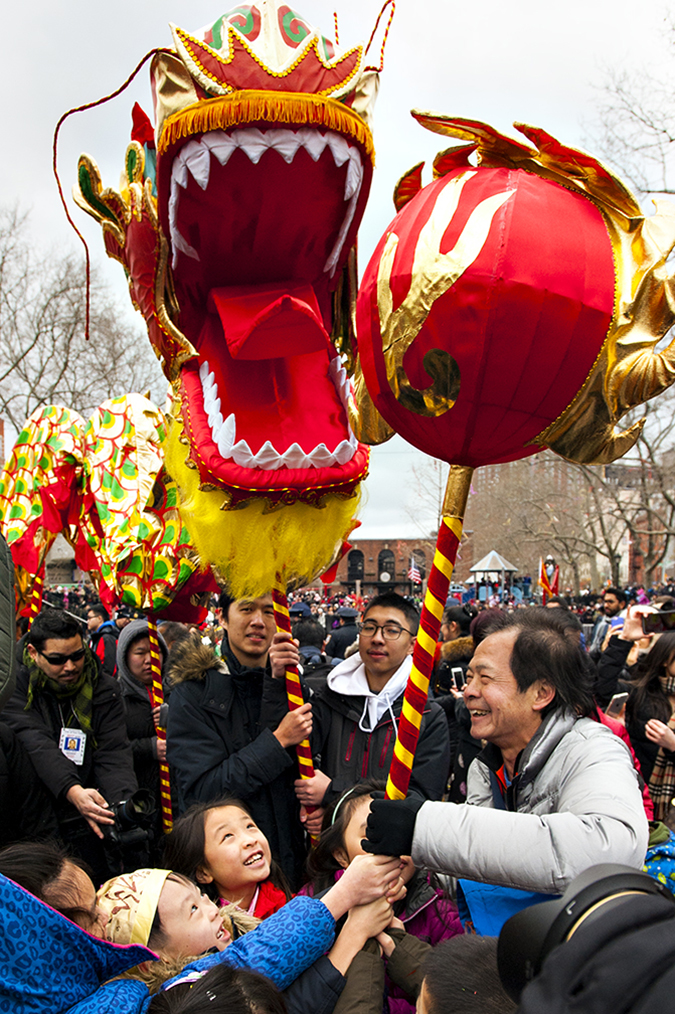 20170205©DAYLunarNewYear4502.jpg Thousands of performers and spectators celebrate The Year of the Fire Rooster during the Lunar New Year festivities in Manhatan Chinatown.