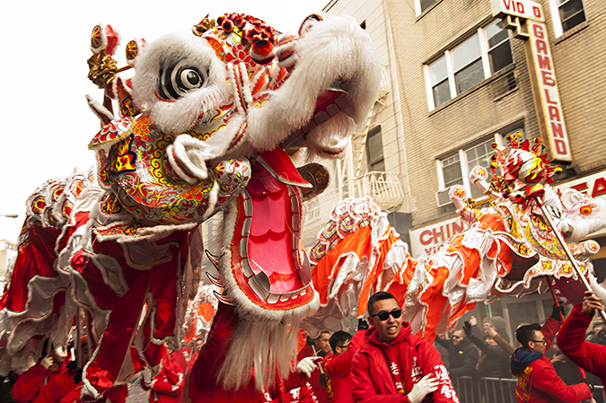 20170205©DAYLunarNewYear5019.jpg Thousands of performers and spectators celebrate The Year of the Fire Rooster during the 18th Annual Lunar New Year festivities in Manhatan Chinatown.