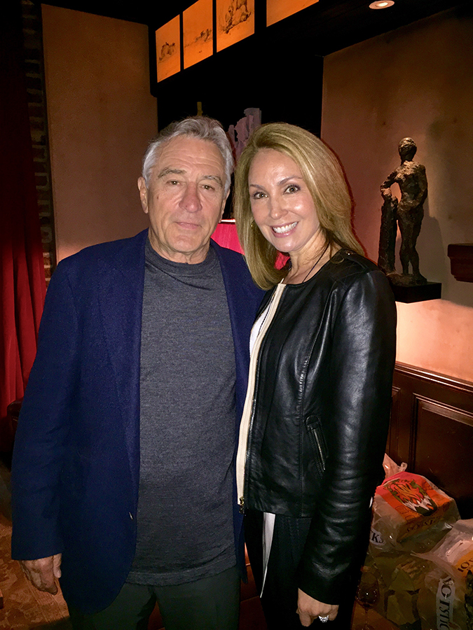 Robert De Niro and Suzanne Johnson (Photo Credit - Suzanne Johnson)