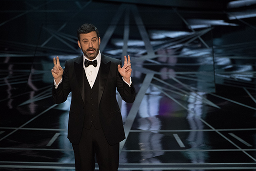 Jimmy Kimmel hosts during The 89th Oscars® at the Dolby® Theatre in Hollywood, CA on Sunday, February 26, 2017.