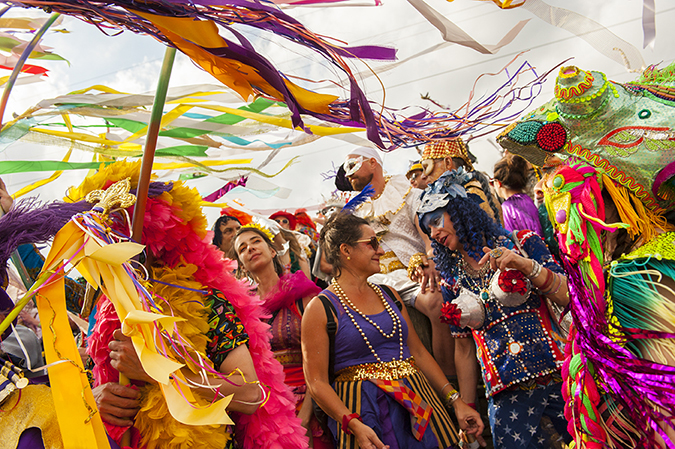 20170228©DayMardiGras2120.jpg Millions lined the parade routes as the last weekend of New Orleans Mardi Gras rolled under warm sunny days delighting the throngs with tons of beads.