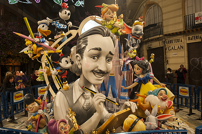 20170319©DAYFallasFestival3134.jpg Thousands of performers and spectators celebrate the Falles Festival on St. Joseph's Day in Valencia Spian on the last day of Fallas. Falla infantil
