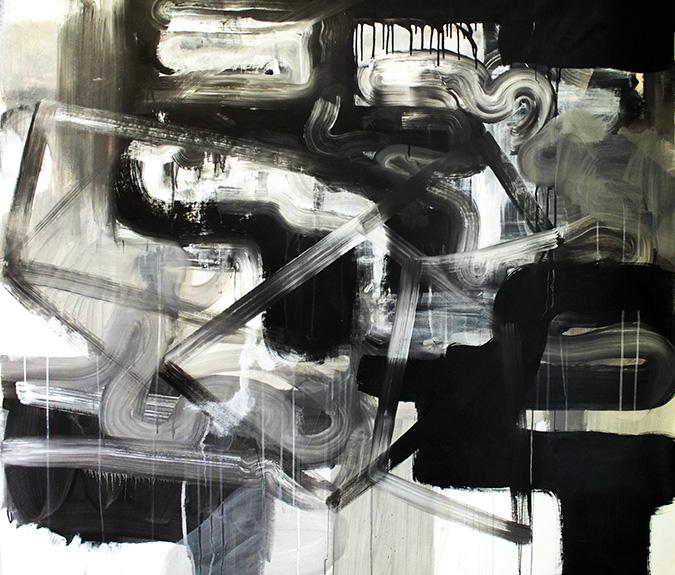 jaime poblete, plexus, 2016, 130 x 160 cm, mixed media on canvas