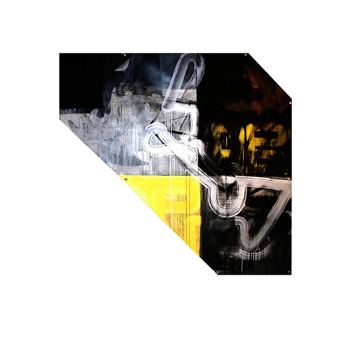 jaime poblete, profugo, 2016, 140 x 165 cm mixed media on canvas
