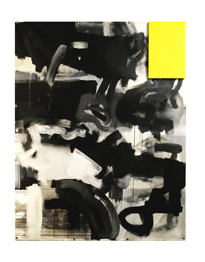jaime poblete, untitled 2, 2016, 160x 120 cm, mixed media on canvas