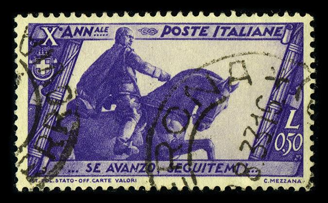 mussolini stamp