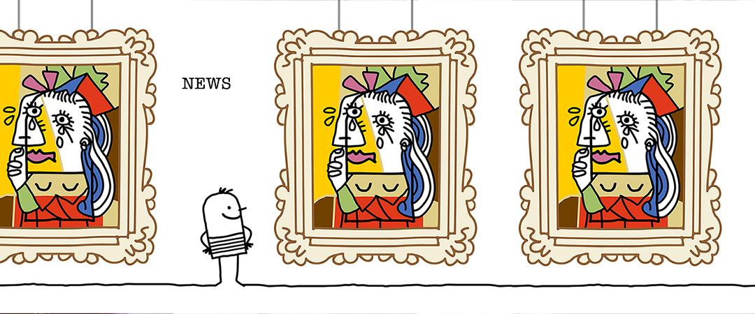 picasso cartoon 1 2 3
