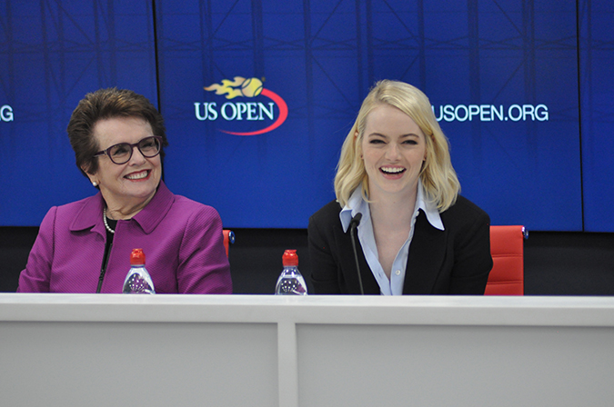 emma stone and billie jean king us open