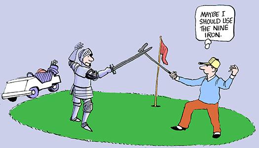 golf cartoon