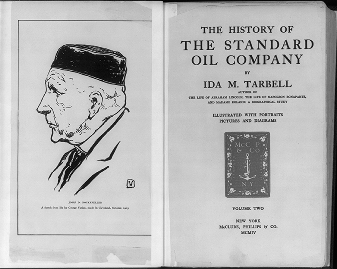 history of the standard oil company title page