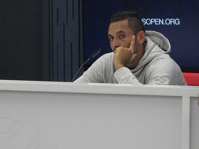 nick kyrgios press conference 2017 us open