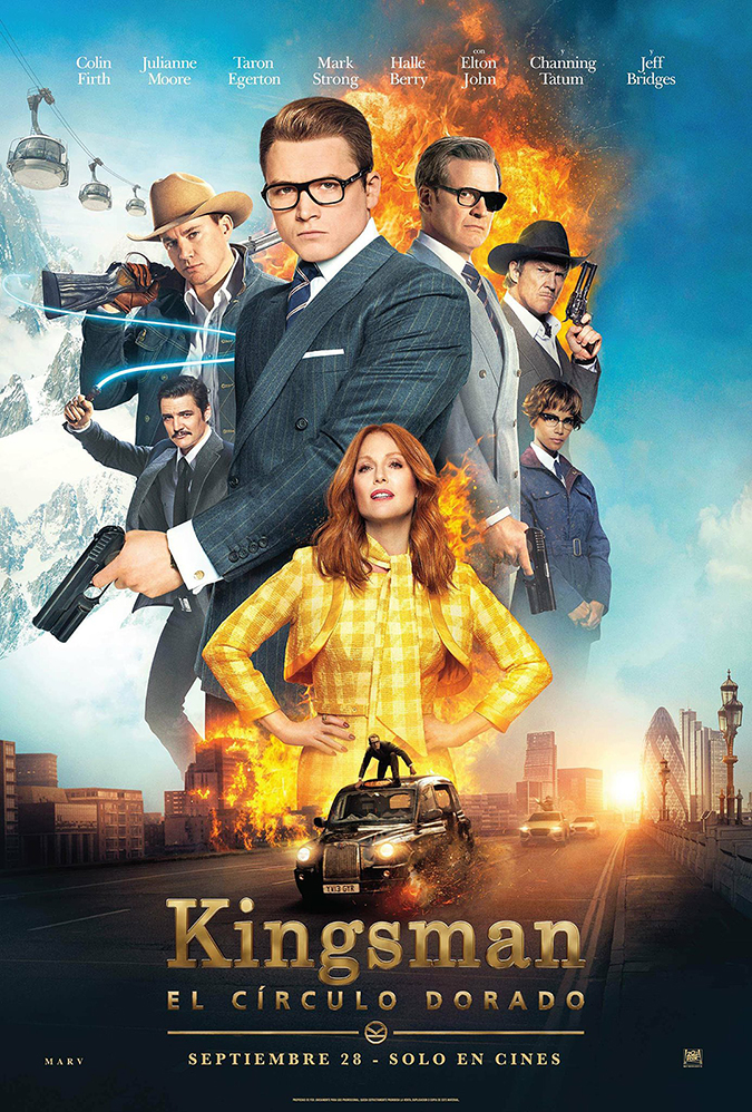 kingsman golden cirlce movie poster