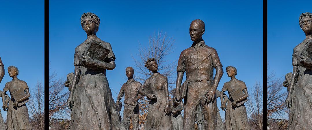 little rock nine statues