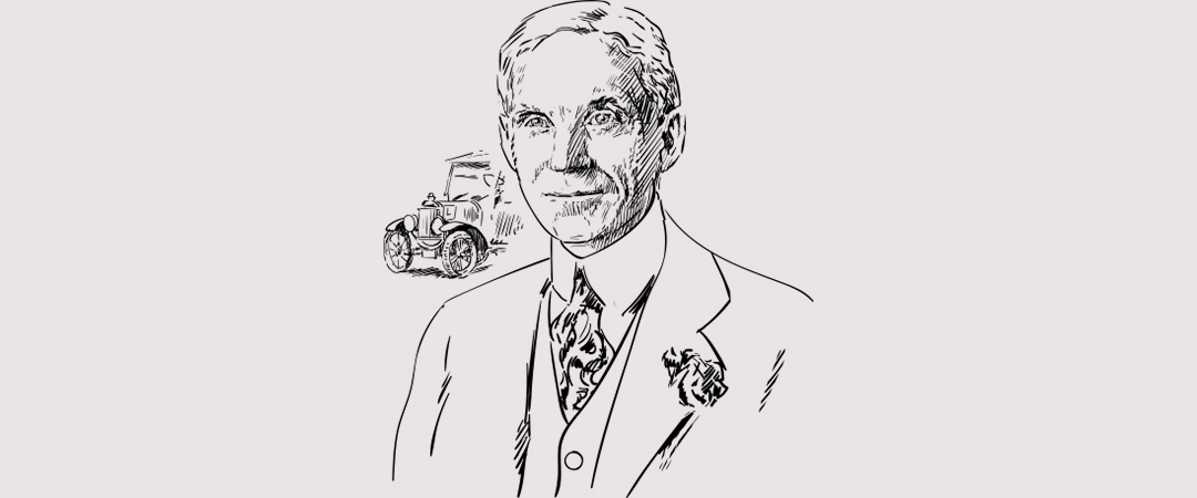 henry ford drawing shutterstock