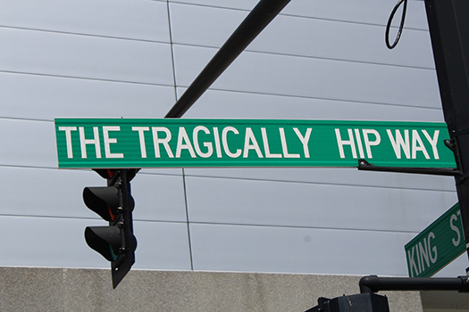 tragically hip road sign