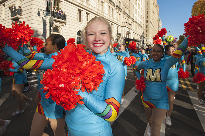 20171123©DayMacyPrde5636.jpg The 91st Macy's Thanksgiving Day Parade kicked off under sunny skies and cool temperatures as hundreds of thousands line the parade route to celebrate the clowns, floats, and balloons fly by, starting the holiday season in New York City.