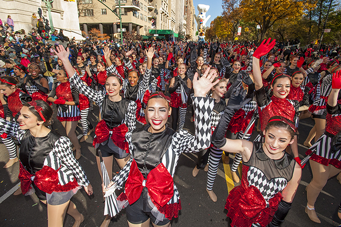 20171123©DayMacyPrde6878.jpg The 91st Macy's Thanksgiving Day Parade kicked off under sunny skies and cool temperatures as hundreds of thousands line the parade route to celebrate the clowns, floats, and balloons fly by, starting the holiday season in New York City.