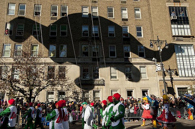 20171123©DayMacyPrde7177.jpg The 91st Macy's Thanksgiving Day Parade kicked off under sunny skies and cool temperatures as hundreds of thousands line the parade route to celebrate the clowns, floats, and balloons fly by, starting the holiday season in New York City.