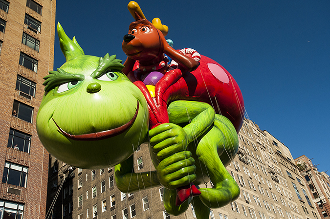 20171123©DayMacyPrde7429.jpg The 91st Macy's Thanksgiving Day Parade kicked off under sunny skies and cool temperatures as hundreds of thousands line the parade route to celebrate the clowns, floats, and balloons fly by, starting the holiday season in New York City.