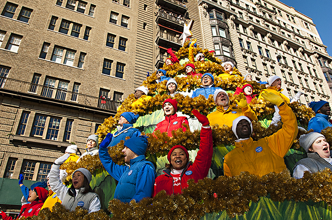 20171123©DayMacyPrde7892.jpg The 91st Macy's Thanksgiving Day Parade kicked off under sunny skies and cool temperatures as hundreds of thousands line the parade route to celebrate the clowns, floats, and balloons fly by, starting the holiday season in New York City.