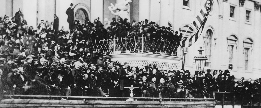 lincoln's second inauguration shutterstock