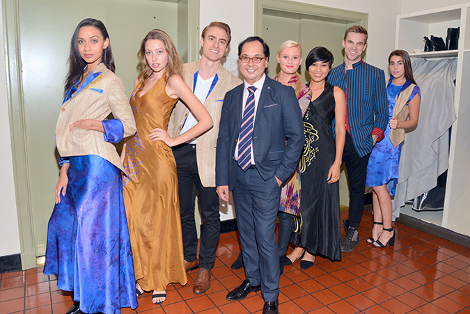 Loy Carlos with True Models at GlobalShare Gala Fashion Show photo by Monico Rabaro