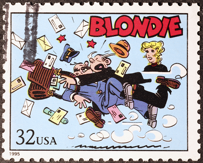 blondie postage stamp shutterstock