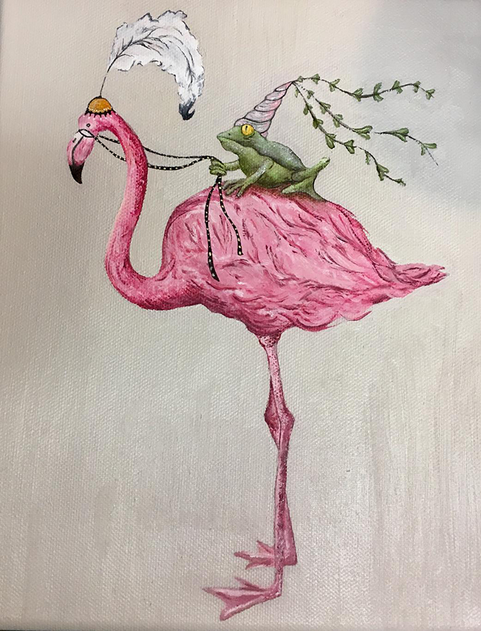 flamingo frog