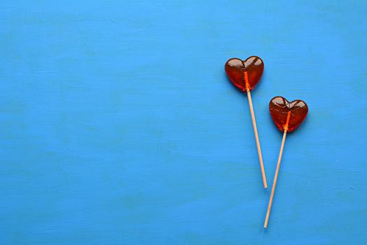 valentine lollipops shutterstock