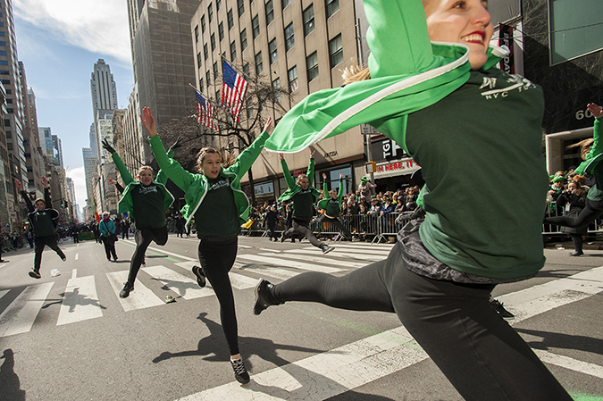 20180317©DayStPatsPrd0182.jpg he 257th edition of New York City's St. Patrick's Day parade march up Fifth Ave. under sunny skies and cool tempertures in the 40s with over 100 marching units of Bagpipes; high school marching bands; and police and fire departments.