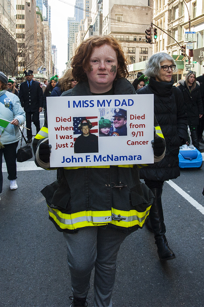 20180317©DayStPatsPrd9524.jpg he 257th edition of New York City's St. Patrick's Day parade march up Fifth Ave. under sunny skies and cool tempertures in the 40s with over 100 marching units of Bagpipes; high school marching bands; and police and fire departments.