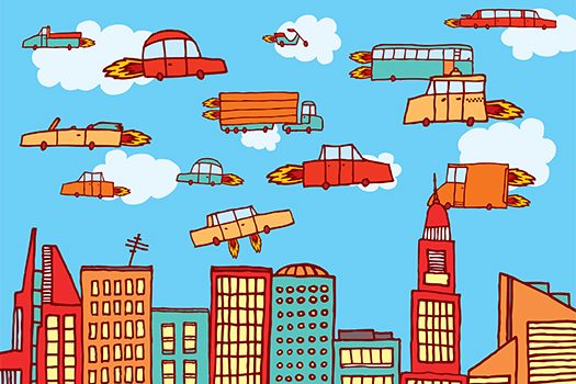 flying cars art shutterstock