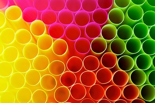 colored plastic straws shutterstock
