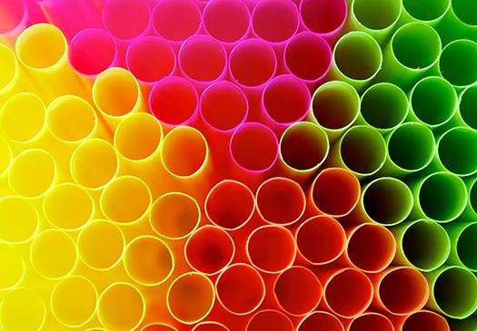 colored plastic straws shutterstock