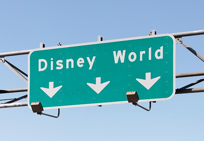 disney world highway sign shutterstock