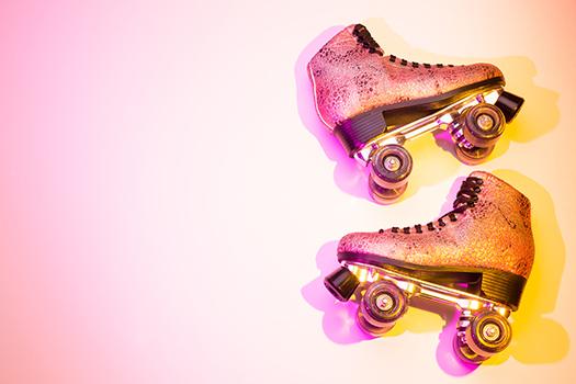 glitter roller skates shutterstock