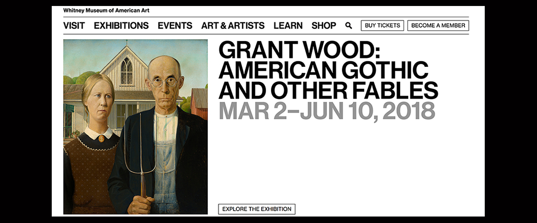 grant wood feature offical whitney museum site