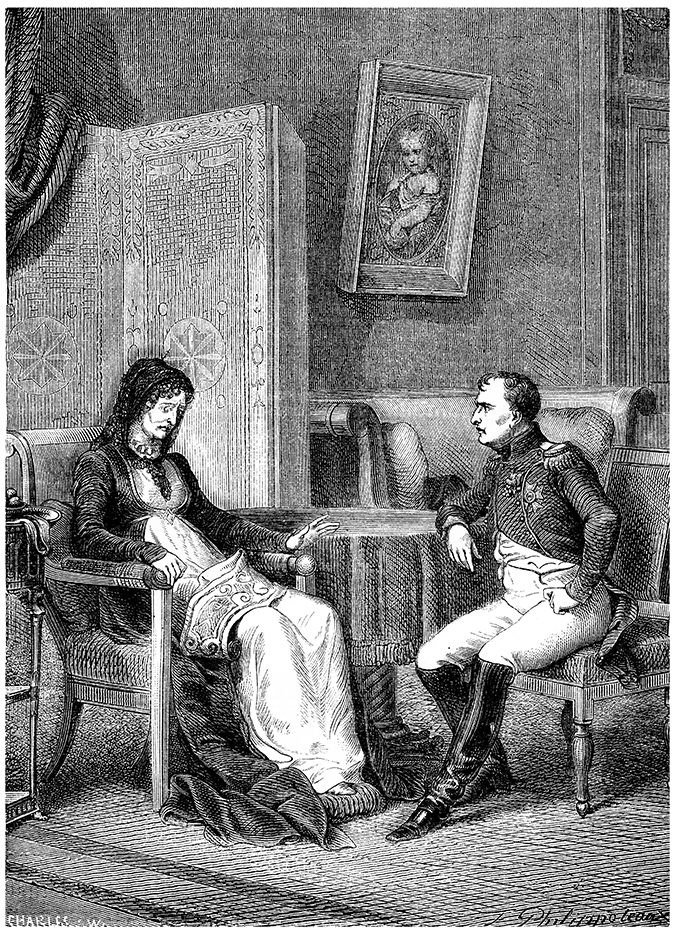 napoleon and mother illustration shutterstock