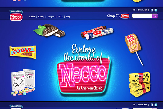 necco screen shot official site 1
