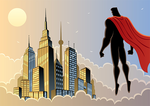 superhero art shutterstock